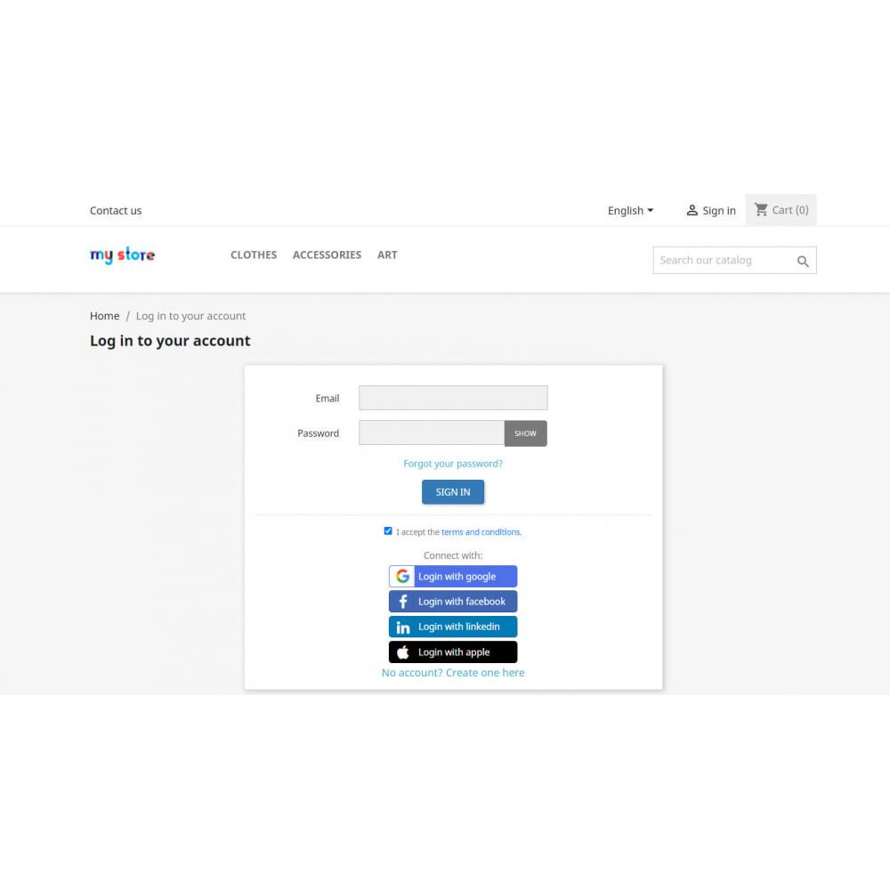 module - Social Login & Connect - Social Login:Google, Apple, +15apps, Mailchimp & GDPR - 10