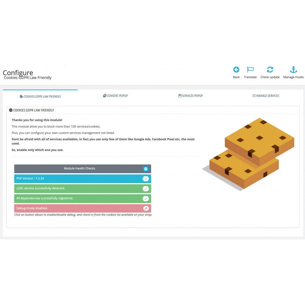 module - Администрация - Cookies GDPR Law Friendly - 3