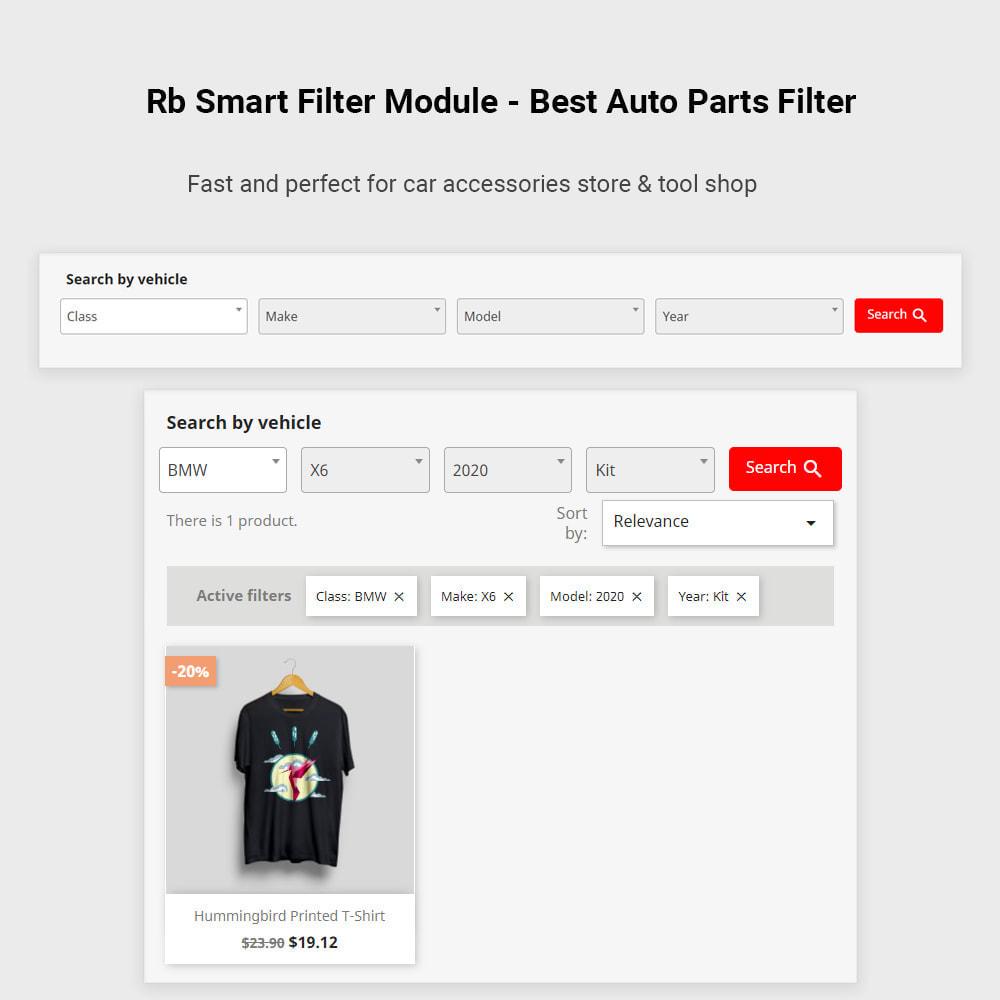 module - Zoeken & Filteren - Rb Smart Filter  -  Auto Parts Filter & Car Accessories - 2
