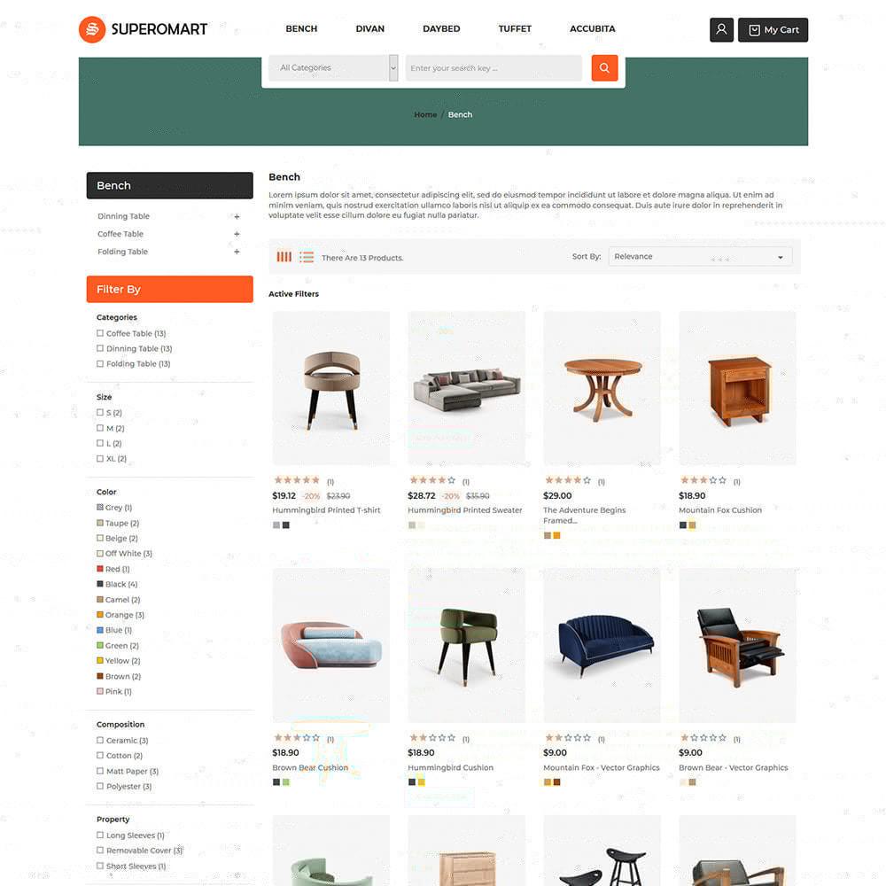 theme - Home & Garden - Interior Furniture - Sofa Chair Table Store - 3
