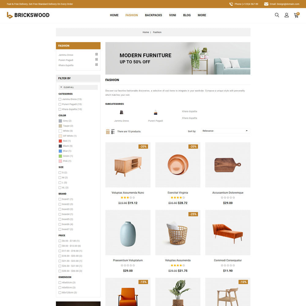 theme - Gifts, Flowers & Celebrations - Brickswood - Firniture Store - 4
