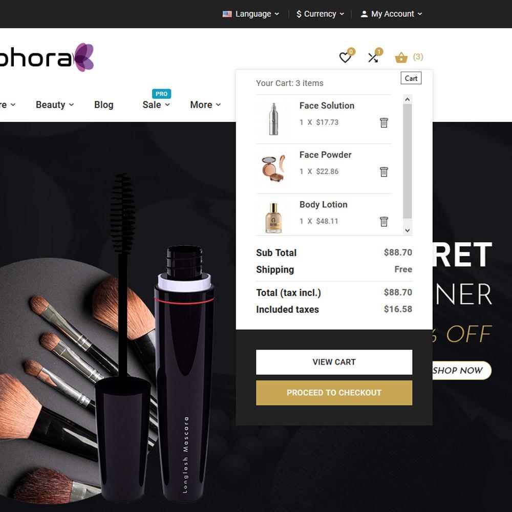 theme - Santé & Beauté - Sephora Mega Bio–Cosmetics Health–Beauty Super Store - 10