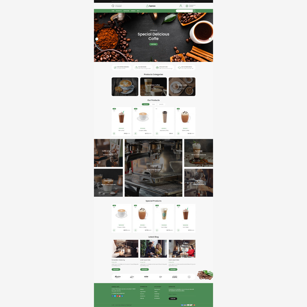 theme - Food & Restaurant - Expresso Coffee Store - 2