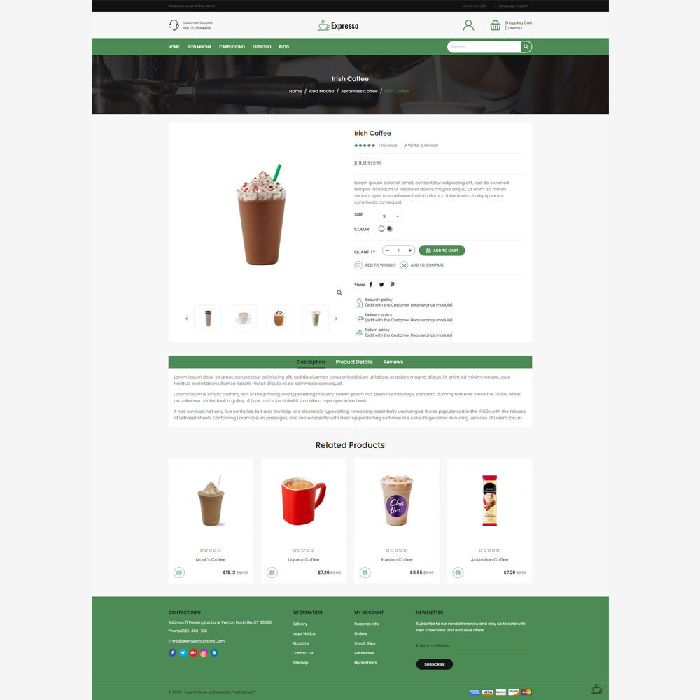 theme - Food & Restaurant - Expresso Coffee Store - 4