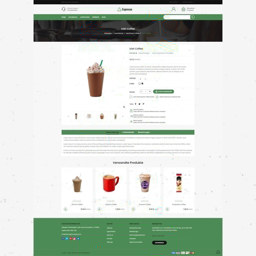 theme - Lebensmittel & Restaurants - Expresso Coffee Store - 4