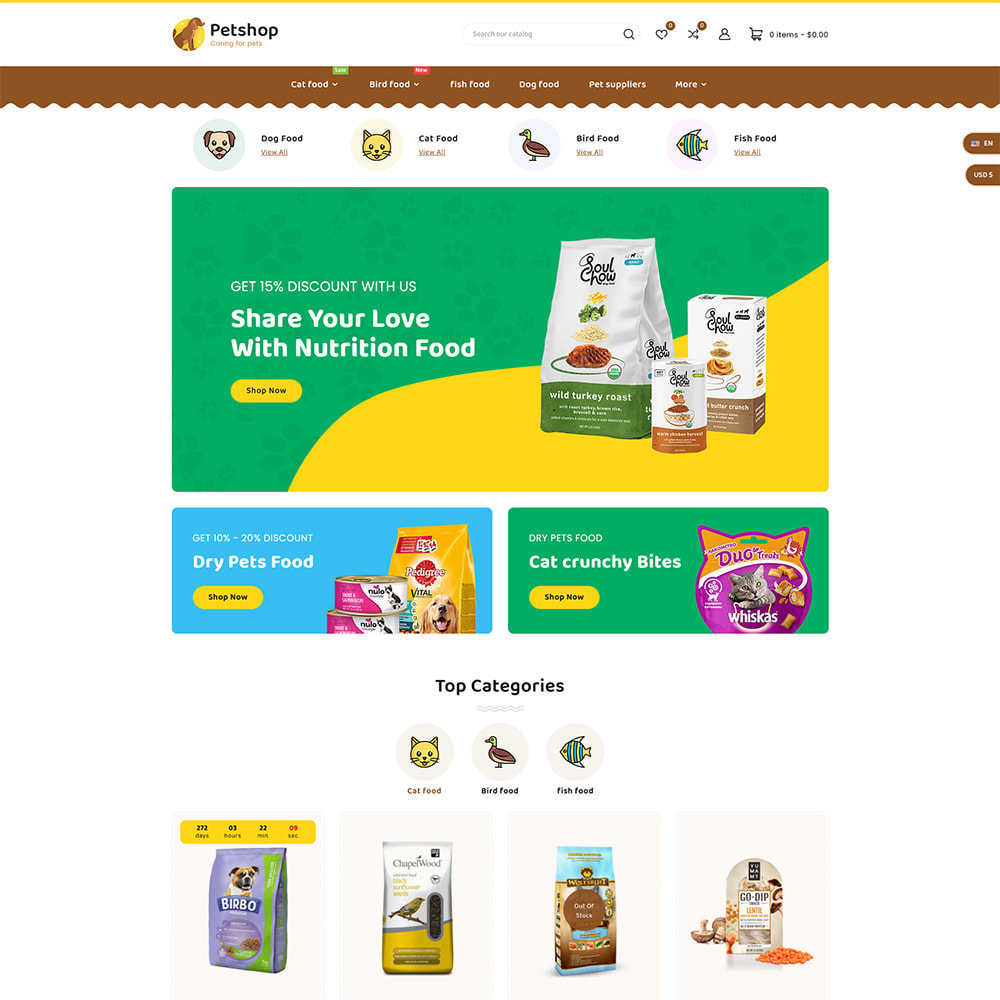 theme - Dieren - Petstore - Animals & Pets Care Store - 2