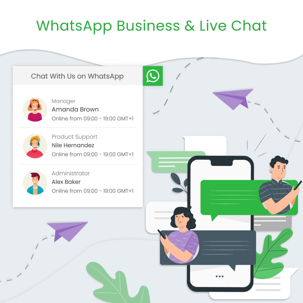 module - Supporto & Chat online - WhatsApp Business & Live Chat - 1