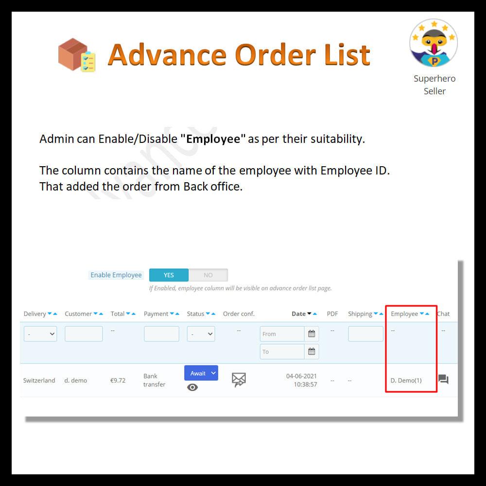 module - Order Management - Advance order list-configurable/ fast view - 14