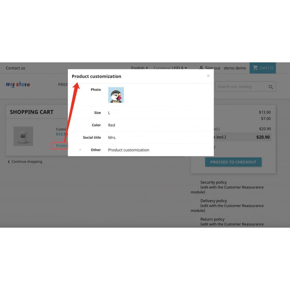 module - Combinazioni & Personalizzazione Prodotti - Advanced product customization-Reuse attribute display - 9