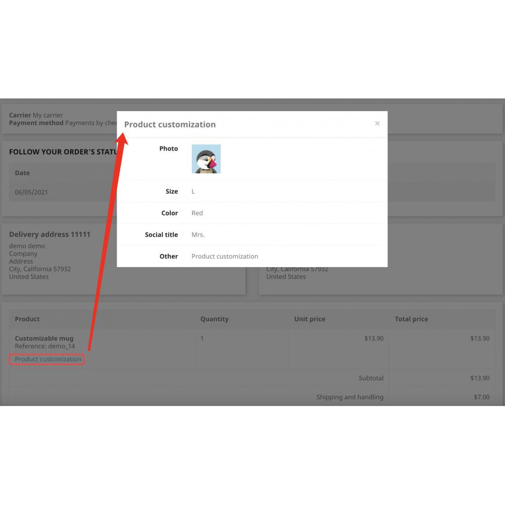 module - Combinazioni & Personalizzazione Prodotti - Advanced product customization-Reuse attribute display - 11