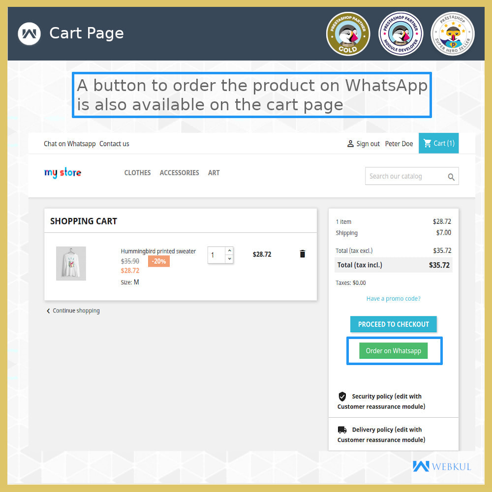 module - Support & Online Chat - Buy Products via WhatsApp - 5