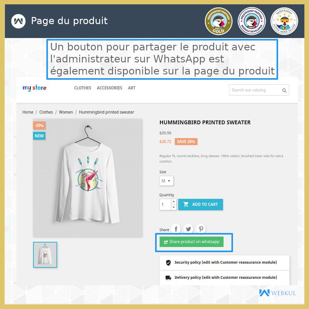 module - Support & Chat Online - Acheter des produits via WhatsApp - 2