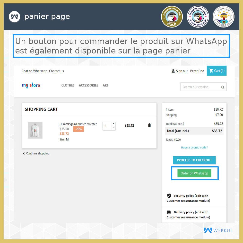 module - Support & Chat Online - Acheter des produits via WhatsApp - 3