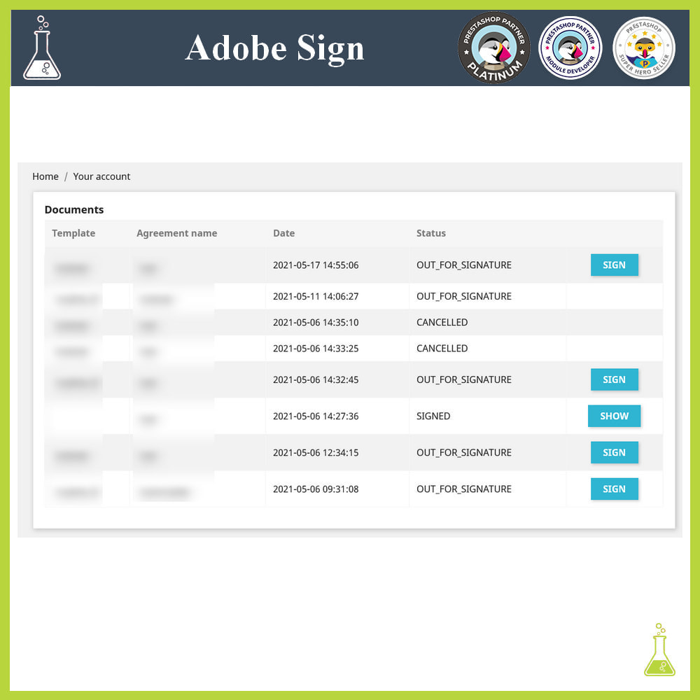 module - Administrative Tools - Adobe Sign: Electronic signatures - 7