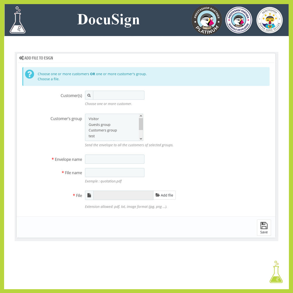 module - Accounting & Invoicing - DocuSign: Electronic signatures - 3