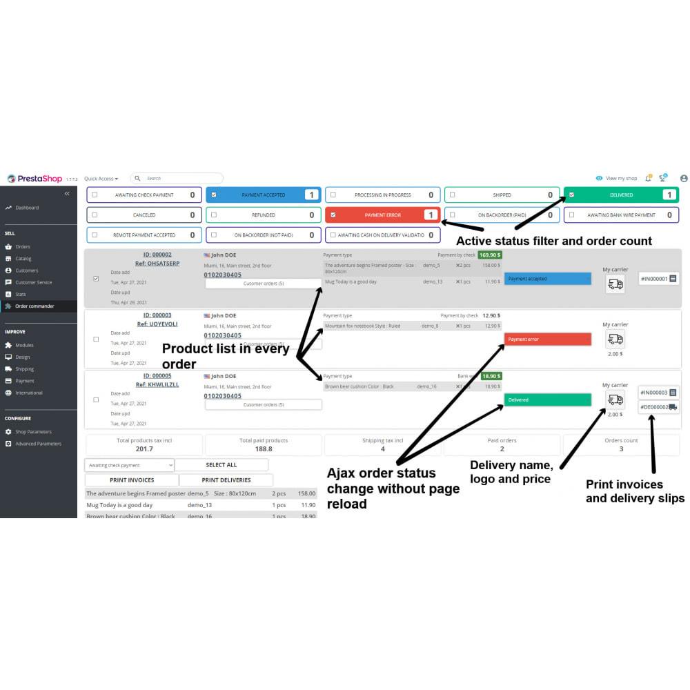 module - Order Management - Order commander - 2