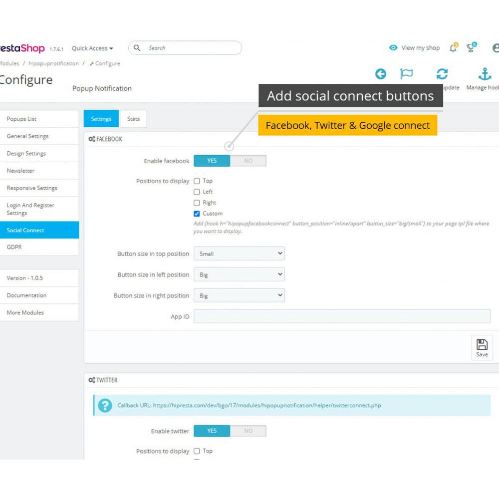 module - Módulos de Botões de Login & Connect - Popups Pack (10 in 1) And Social Connect - 18