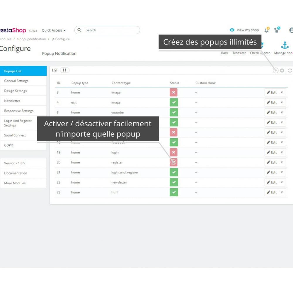 module - Boutons Login & Connect - Pack Pop Ups (10 en 1) Et La Social Connexion - 13