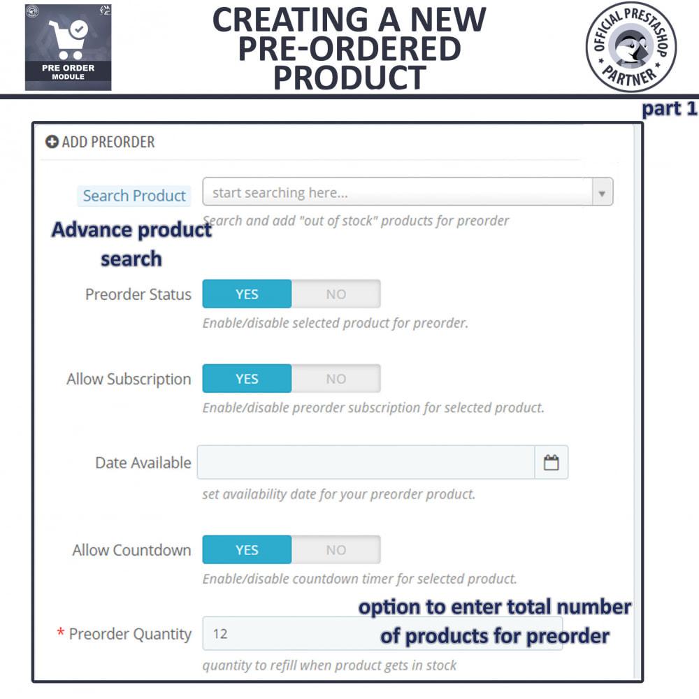 module - Cadastro e Processo de Pedido - Pre Order - Advance Booking - 11