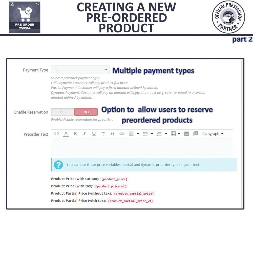 module - Cadastro e Processo de Pedido - Pre Order - Advance Booking - 12