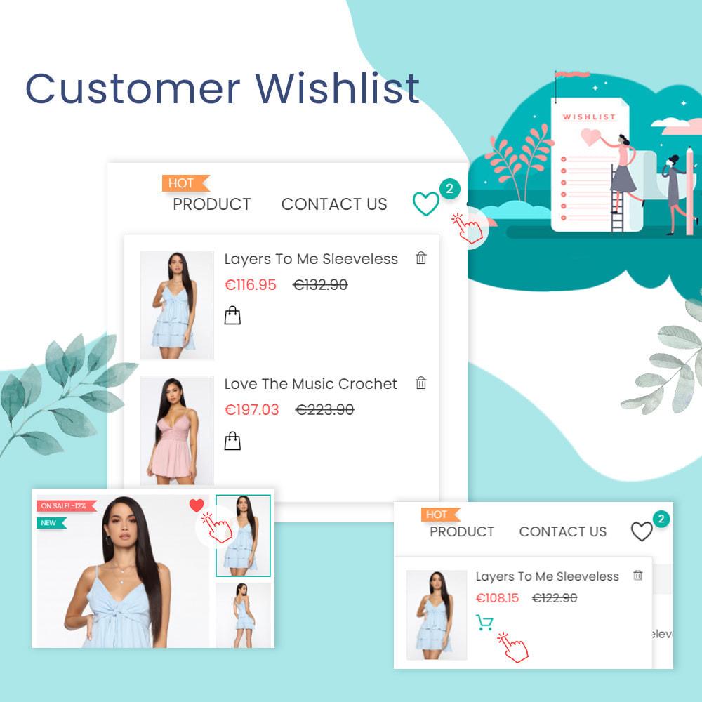 module - Wishlist & Gift Card - Wishlists & Favorites Customer Products List - 1