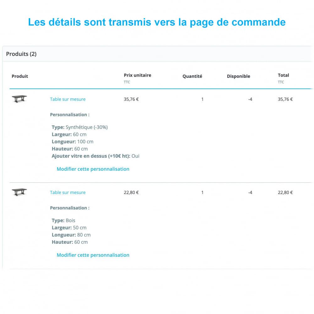 module - Tailles & Dimensions - Produits sur mesure - 3