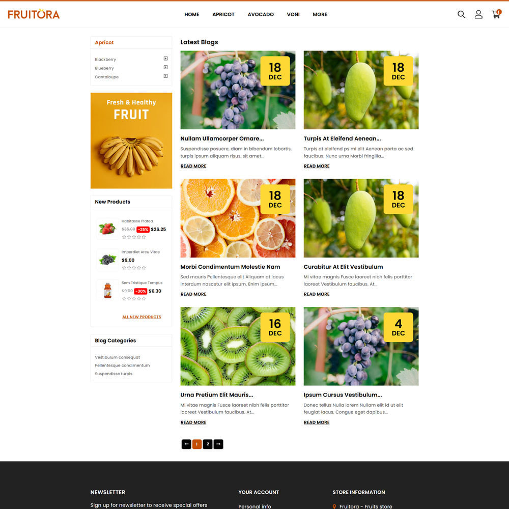 theme - Food & Restaurant - Fruitora - Fruit Shop - 5