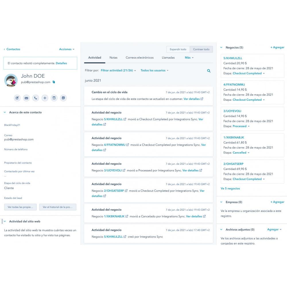 module - Remarketing y Carritos abandonados - HubSpot Integración ecommerce - 12