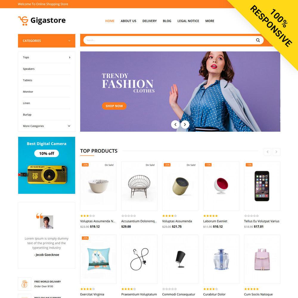 theme - Fashion & Shoes - Gigastore - Mega Store - 1