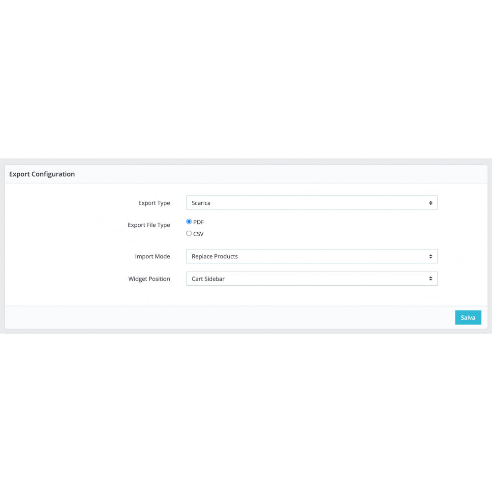 module - Data Import & Export - Cart Exporter - 3