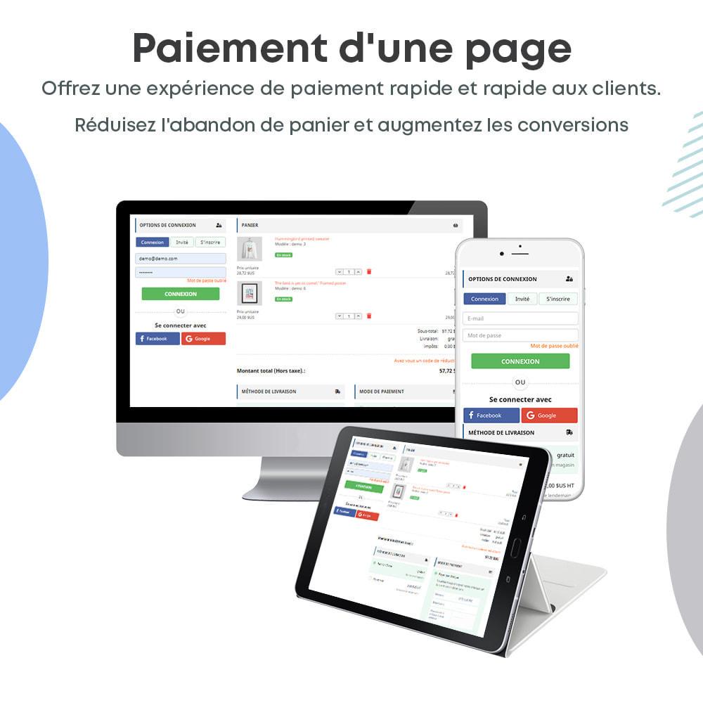 module - Processus rapide de commande - One Page Checkout, Social Login & Mailchimp - 1