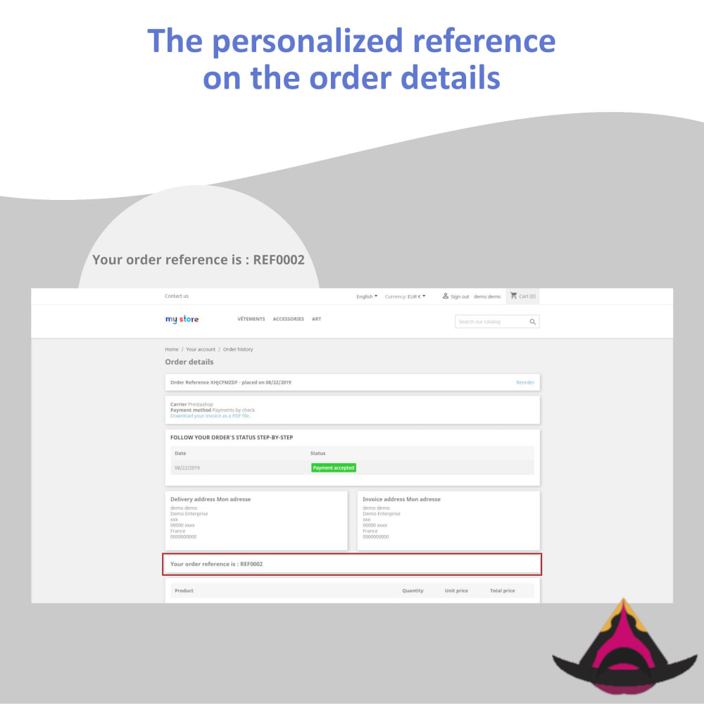 module - Accounting & Invoicing - Personalized customer reference on orders - 5