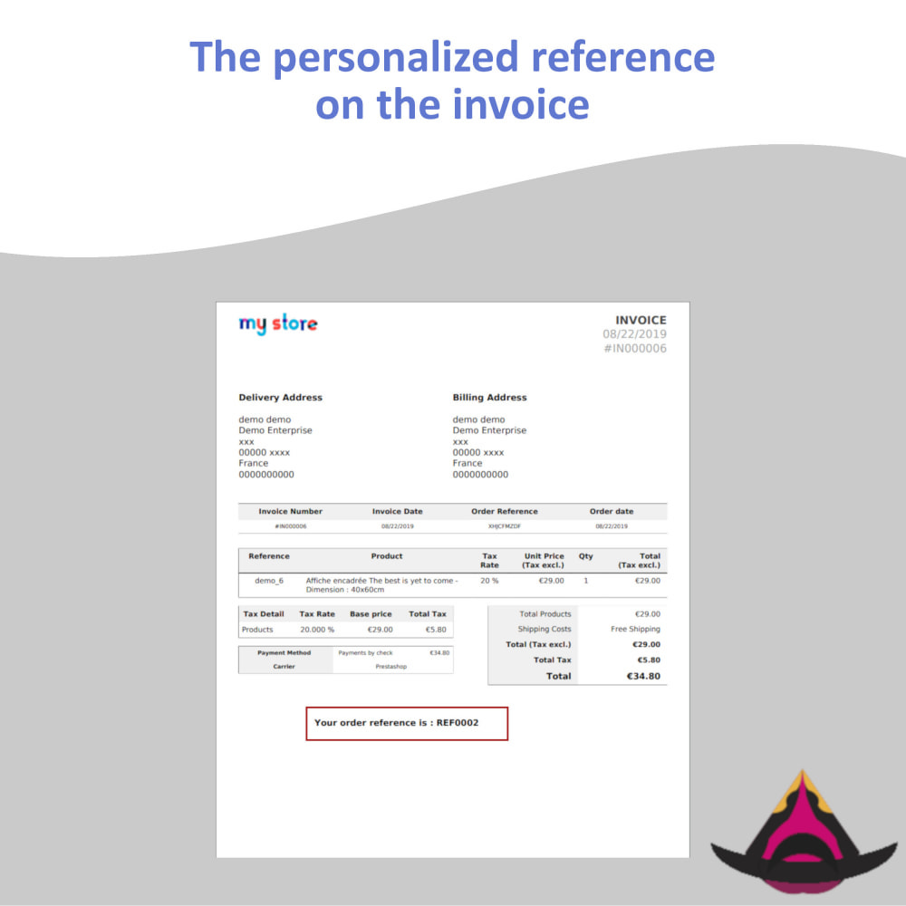 module - Accounting & Invoicing - Personalized customer reference on orders - 6