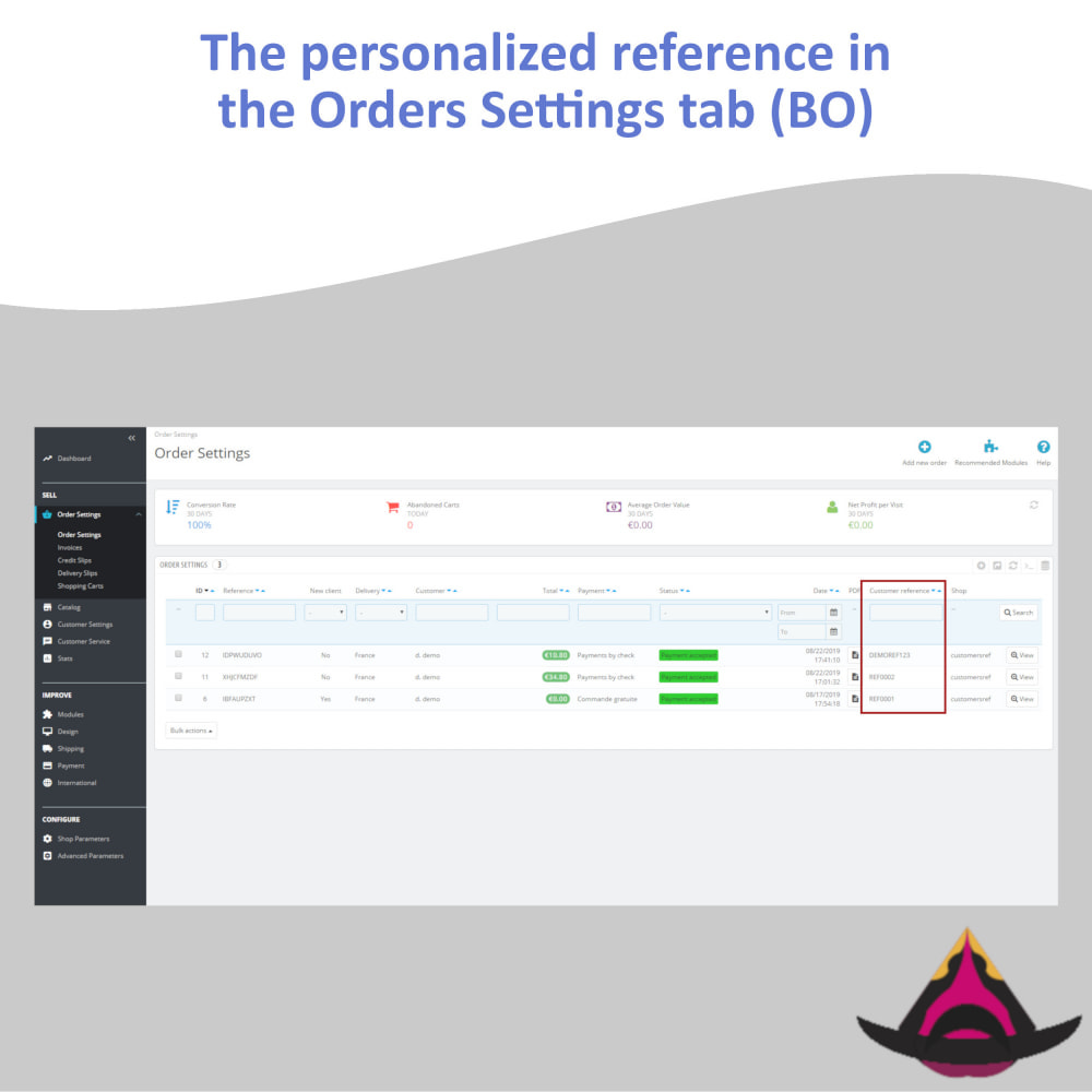 module - Accounting & Invoicing - Personalized customer reference on orders - 8