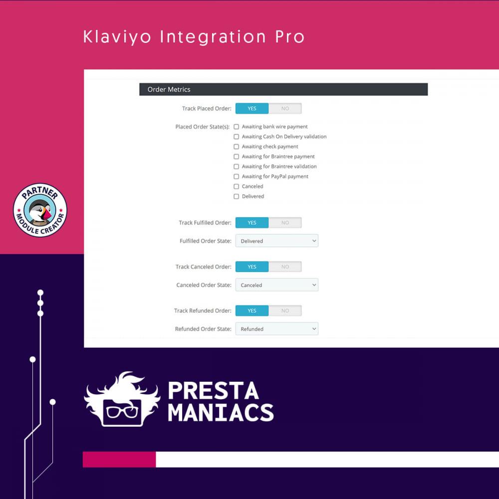 module - Notifications & Automatic Emails - Klaviyo Integration Pro - 3