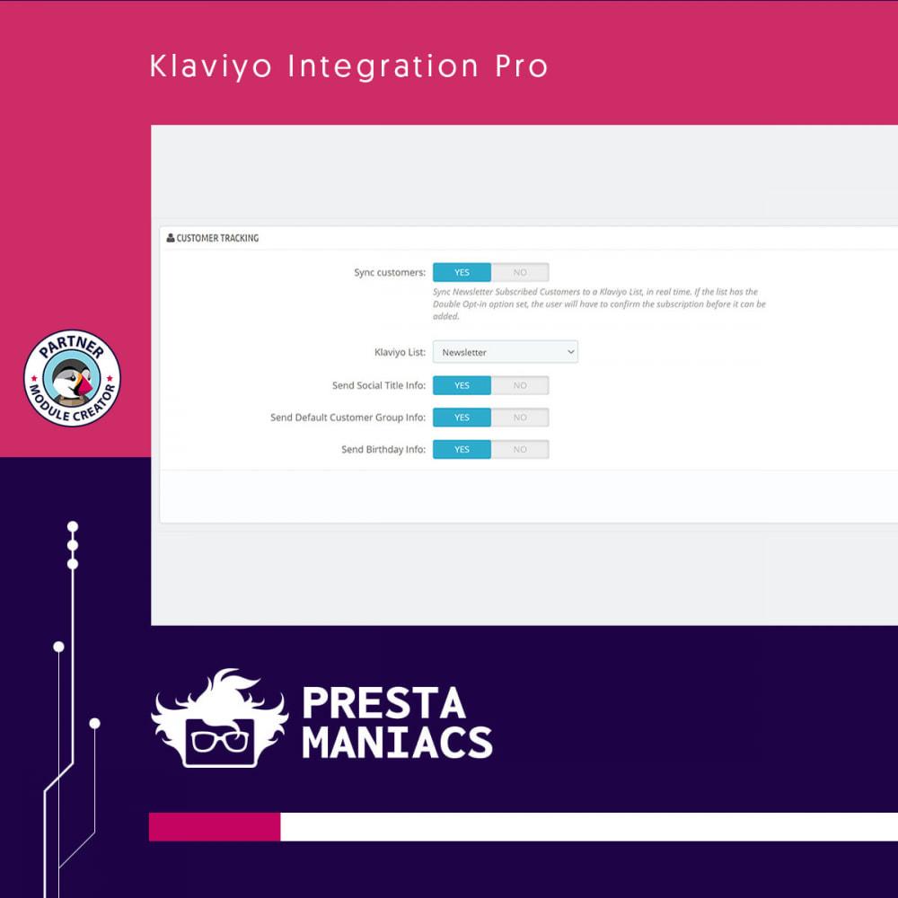 module - Notifications & Automatic Emails - Klaviyo Integration Pro - 4