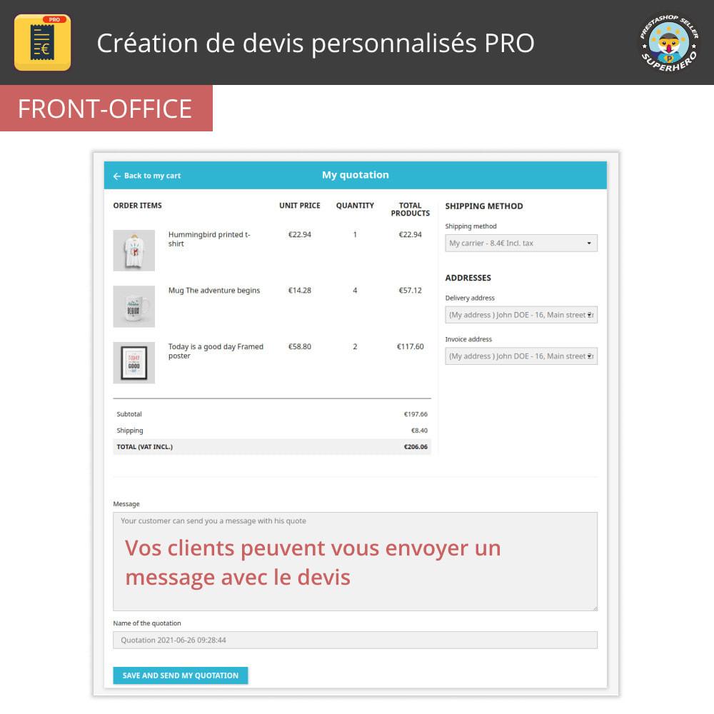 module - Devis - Création de devis personnalisés PRO - 2