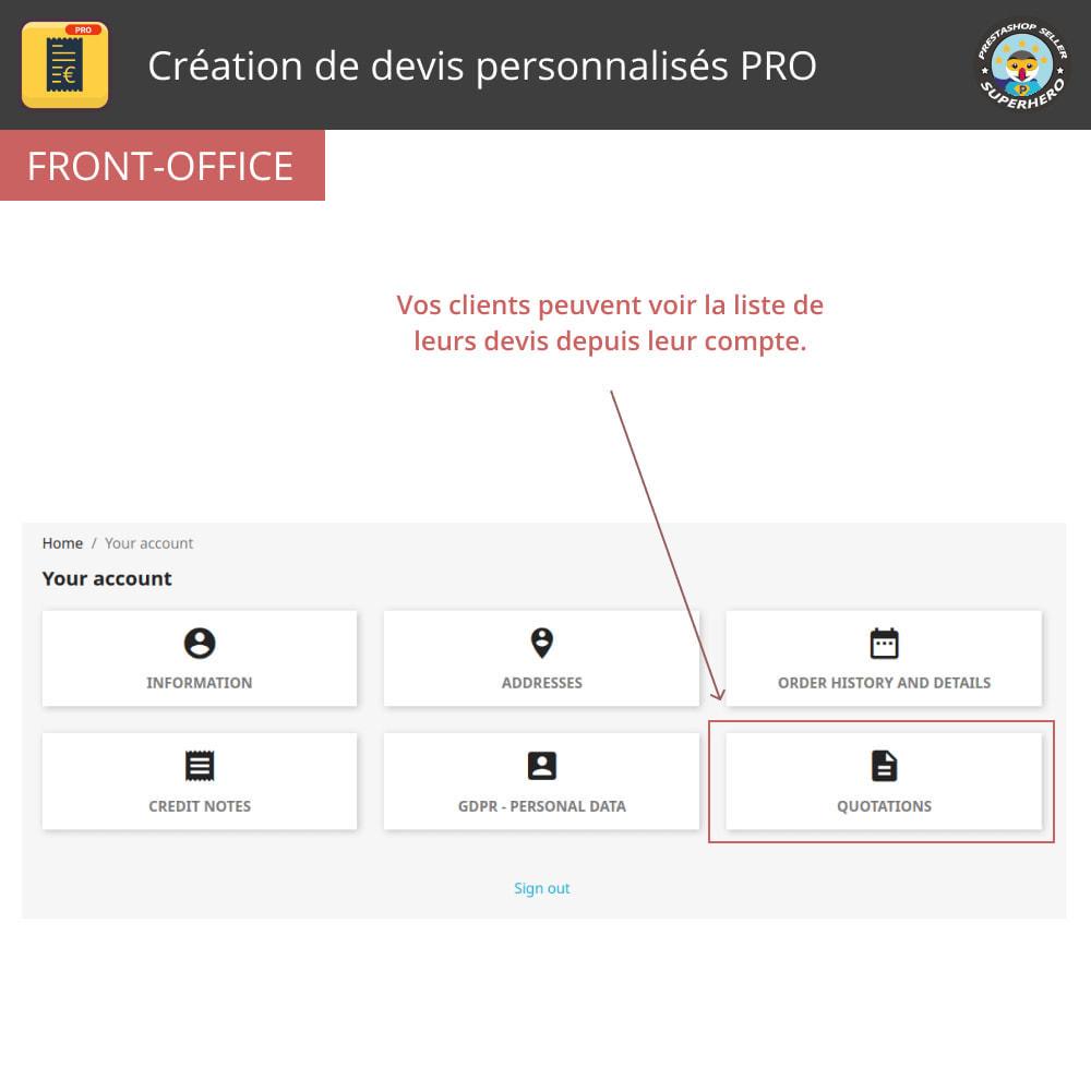 module - Devis - Création de devis personnalisés PRO - 3
