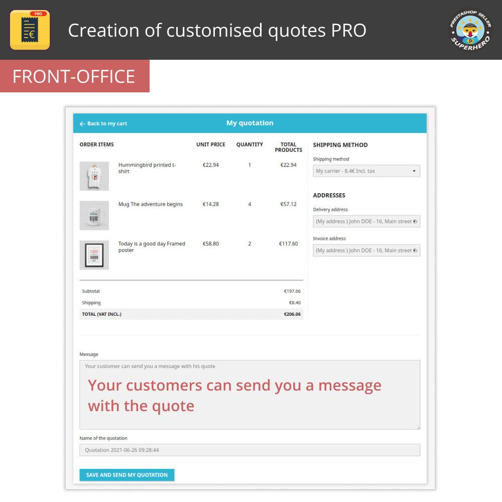 module - Расчет цены - Creation of customised quotes PRO - 2