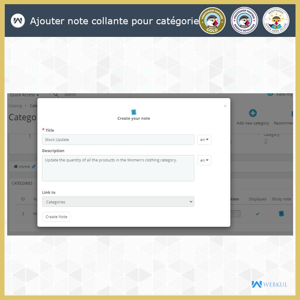 module - E-mails & Notifications - Sticky Notes pour commandes et catégories - 4