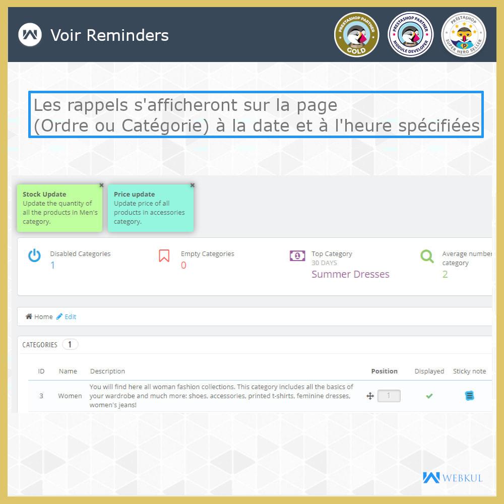 module - E-mails & Notifications - Sticky Notes pour commandes et catégories - 5