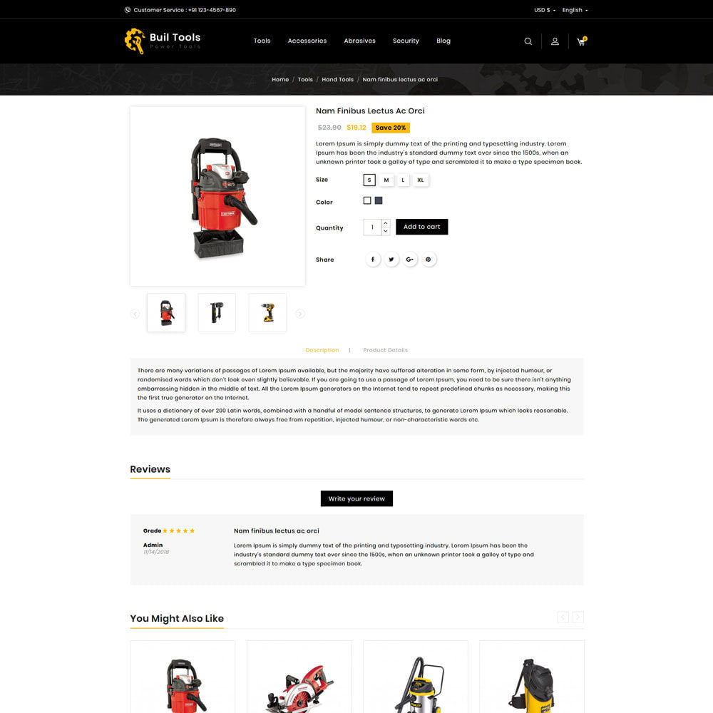 theme - Home & Garden - Buil - Tool Store - 4