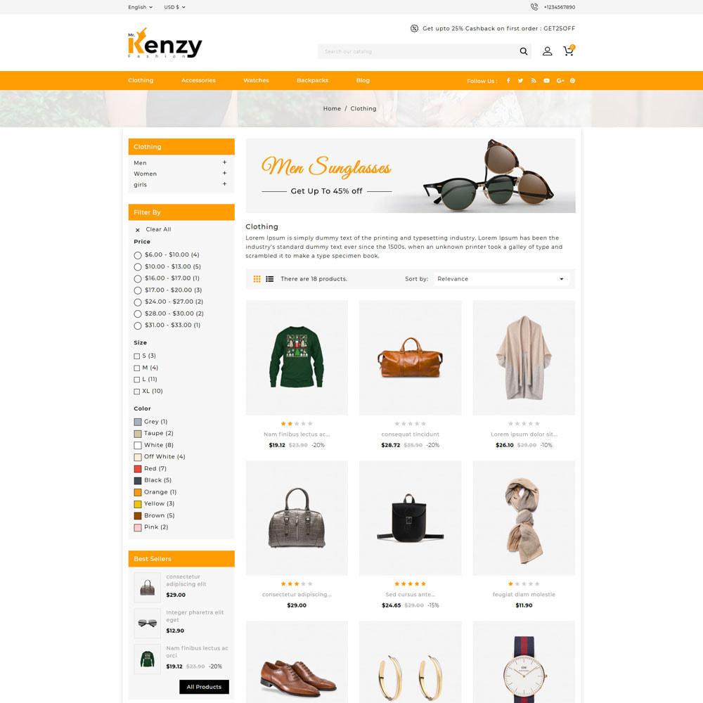 theme - Fashion & Shoes - Kenzy - Fashion Shop - 3