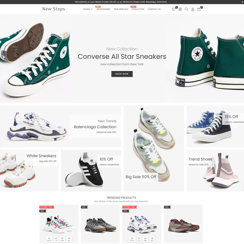 theme - Fashion & Shoes - New Step - Fashion & Shoes, Jewelry, Clothes, Bags - 2