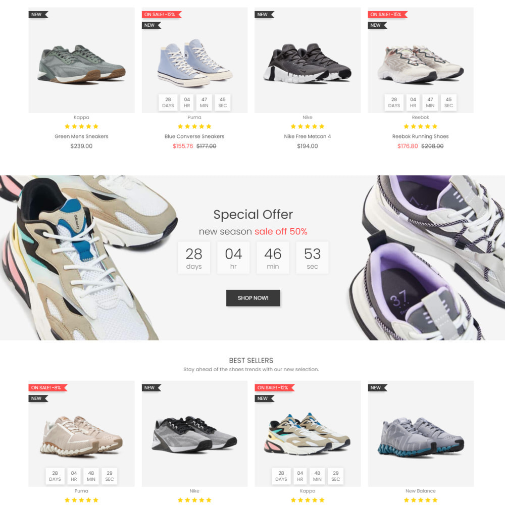 theme - Fashion & Shoes - New Step - Fashion & Shoes, Jewelry, Clothes, Bags - 3