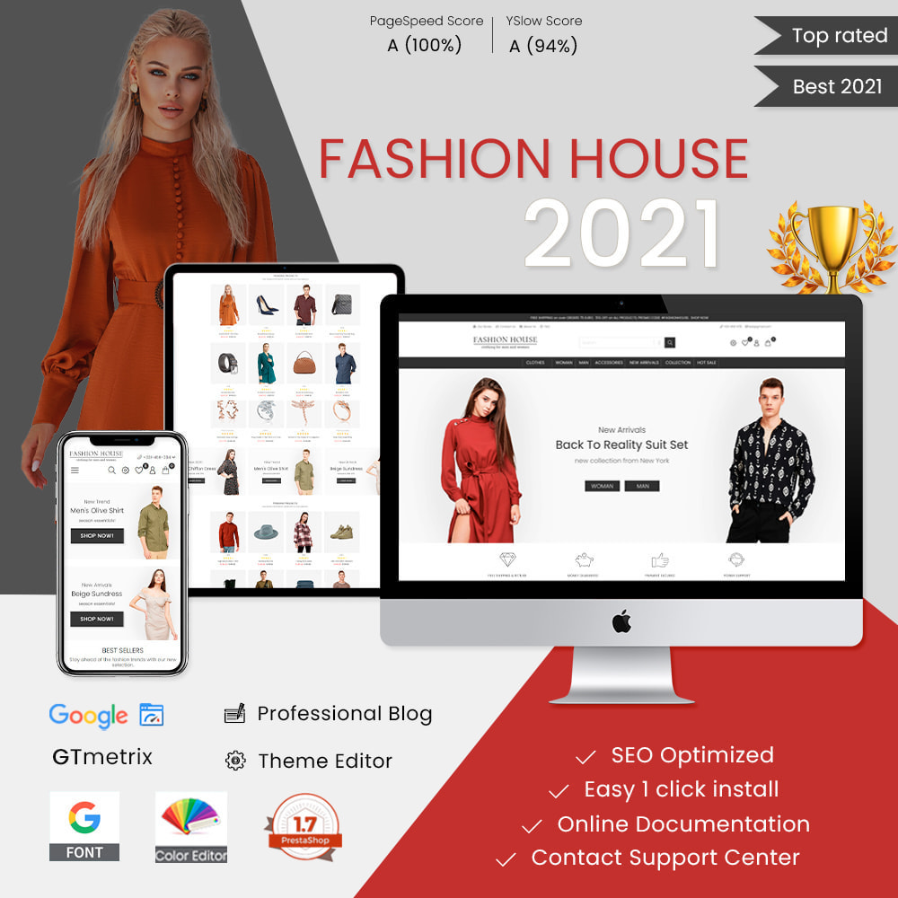 theme - Mode & Chaussures - Fashion House - Clothes & Shoes, Jewelry & Watch, Bags - 1