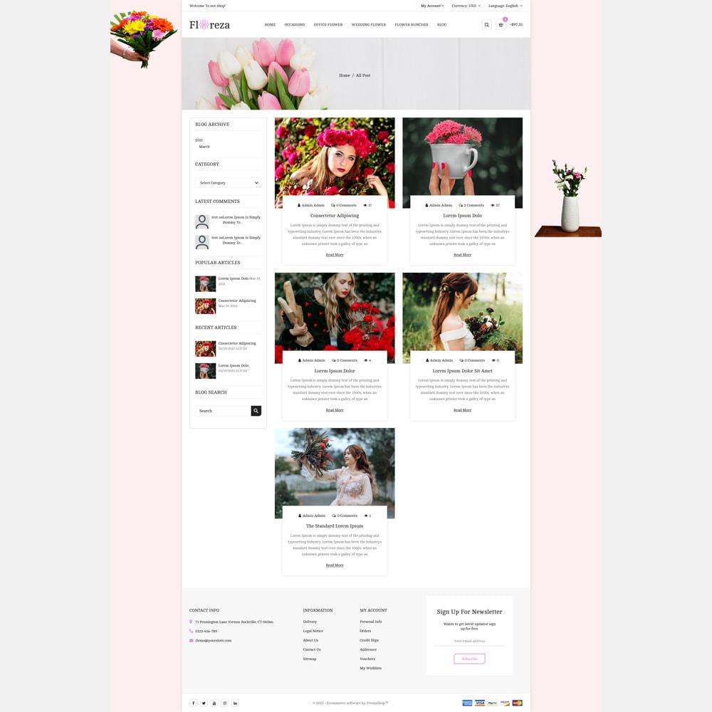 theme - Gifts, Flowers & Celebrations - Floreza Flower Store - 5