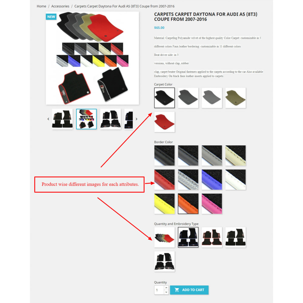module - Combinations & Product Customization - Product Attribute Images - 1
