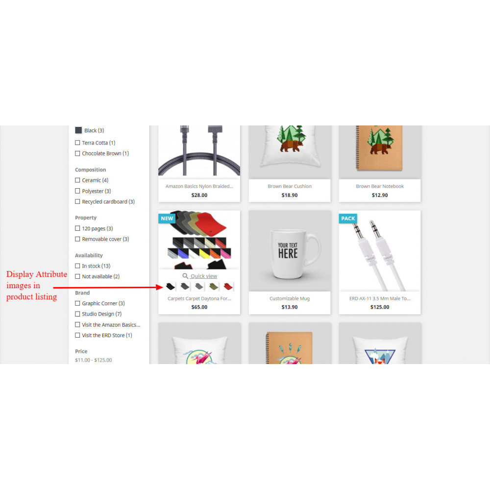 module - Combinations & Product Customization - Product Attribute Images - 2