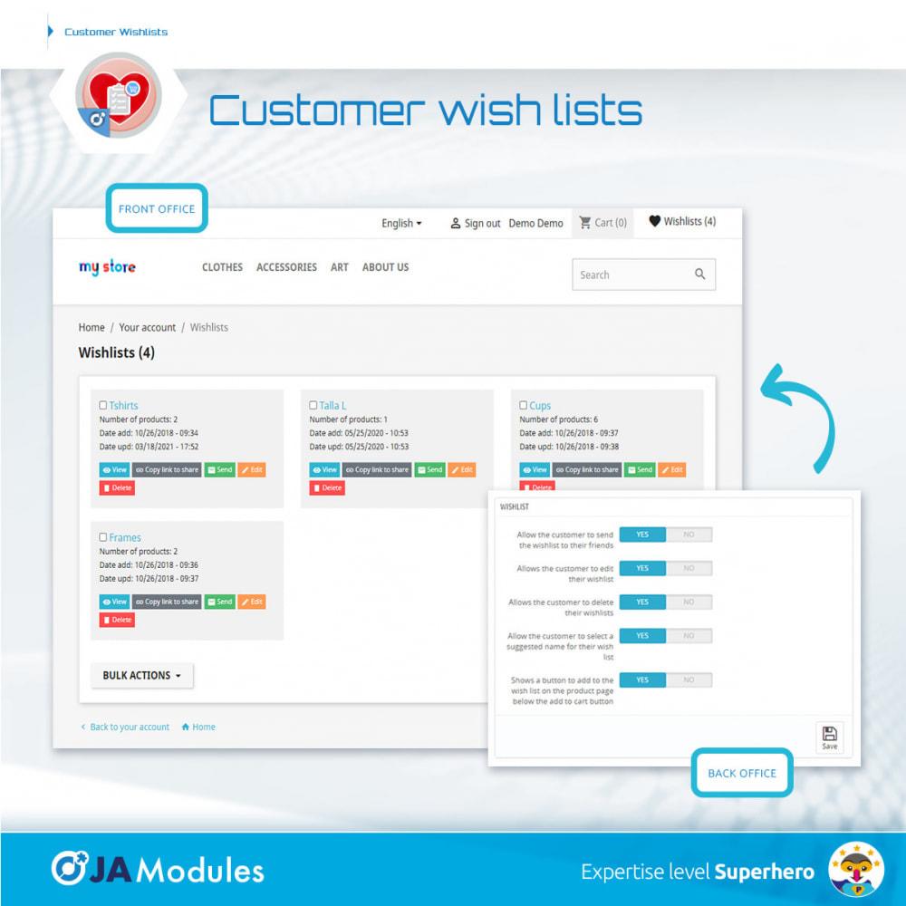 module - Список желаний и Подарочный купон - Customer Wishlists - 6